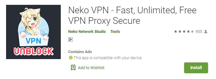 Neko VPN for Windows