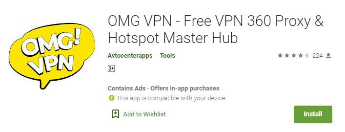 OMG VPN for Windows