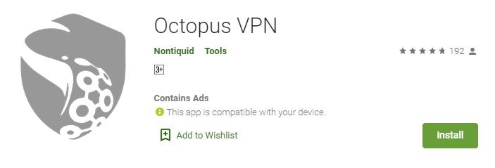 Octopus VPN for Mac