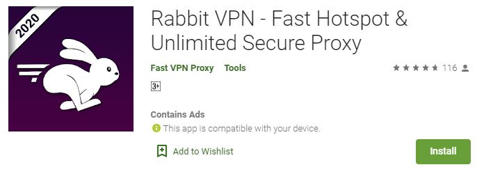 Rabbit VPN for Windows