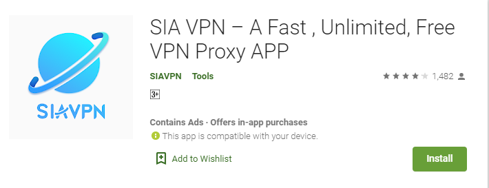 Sia VPN for Windows