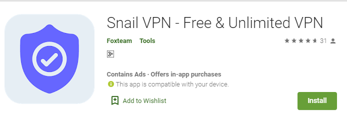 Snail VPN for Mac
