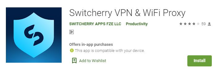 Switcherry VPN for Windows