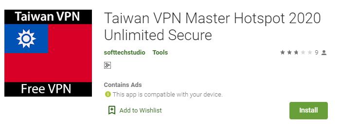 Taiwan VPN for Windows