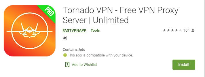 Tornado VPN for Windows