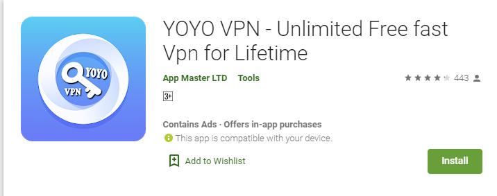 YoYo VPN for Mac