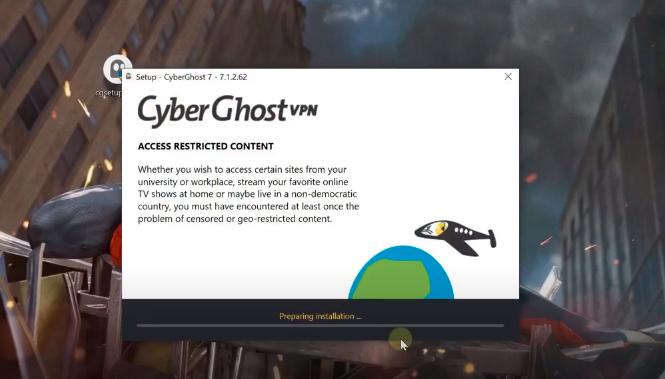 Install CyberGhost Setup File