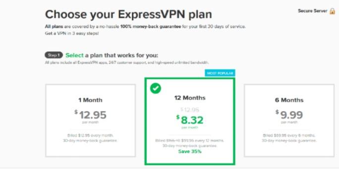 ExpressVPN official website