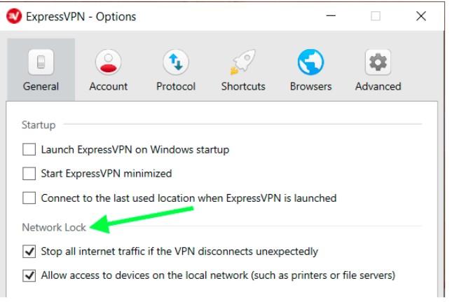 enable the ExpressVPN