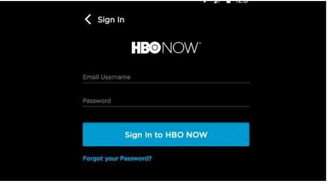 Open the HBO app