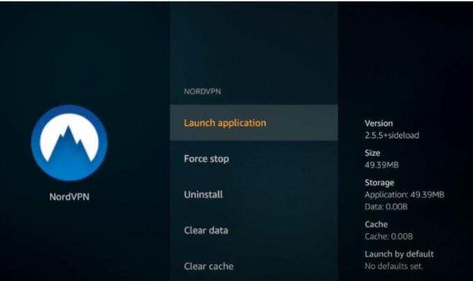 downloaded NordVPN app