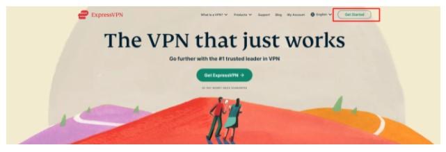 official website of ExpressVPN