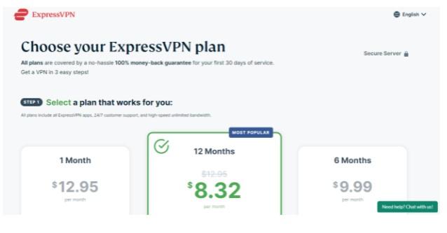 Register VPN service