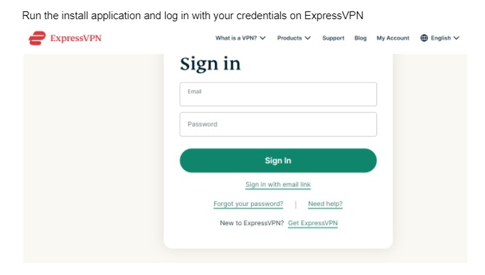 install application and log in