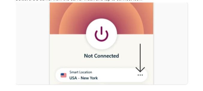 Select a US server