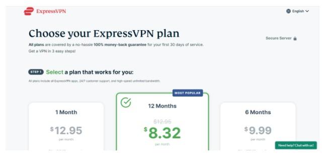 Subscribe on ExpressVPN
