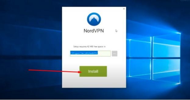 NordVPN setup file & install
