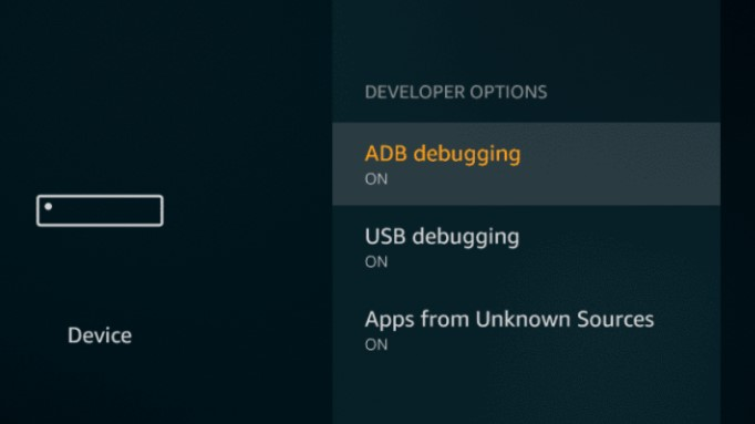 Device Developer are turned on