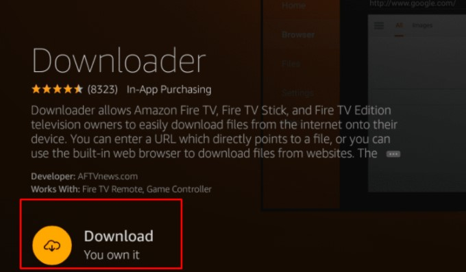 """install the """"Download"""" app"""