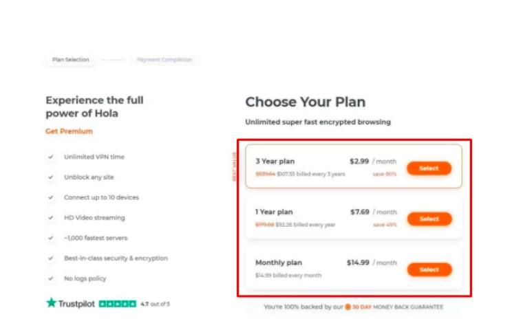 several subscription plans